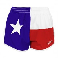 TYLER'S TEXAS FLAG RACER SHORTS- WOMEN