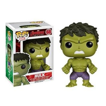FUNKO pop Marvel: Avengers Hulk 68# Vinyl Action Figure Toy Collection model toy gifts|Action & Toy Figures