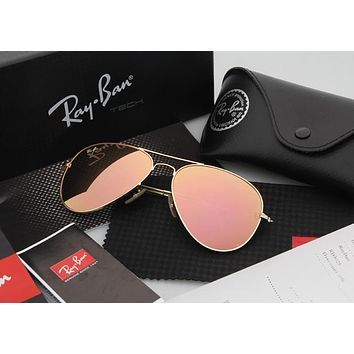 Ray Ban Aviator Sunglasses Yellow Flash/Gold Frame RB3025 112/68F 58mm