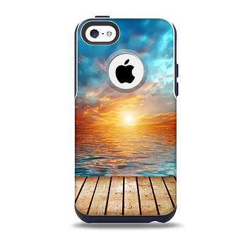 The Paradise Sunset Ocean Dock Skin for the iPhone 5c OtterBox Commuter Case