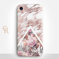 Floral MarblePhone Case Case For iPhone 8 iPhone 8 Plus - iPhone X - iPhone 7 Plus - iPhone 6 - iPhone 6S - iPhone SE - Samsung S8 iPhone 5
