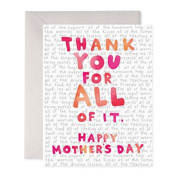 For All of It Mother's Day Card