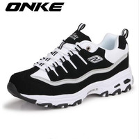 ONKE New Listing Hot Sale fashion brand Spring and Autumn Breathable  Men casual shoes lovers shoes z795-595