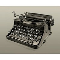 Remington Rand Typewriter Fine Art Print Poster By Clifford Faust
