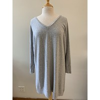 Oversized Grey Sweatshirt Dress (L/XL)