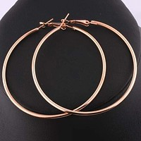 1Pair Personality Boho Style Vintage Alloy Silver and gold-color Round Loop Hoop Earrings Party Jewelry Big Circle Earrings