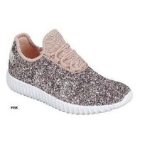 DCK7YE Pink Sparkly Sneakers