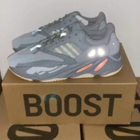 Adidas Yeezy 700 Boost Sneakers Fashion Casual Running Reflective Dot Sport Shoes Grey