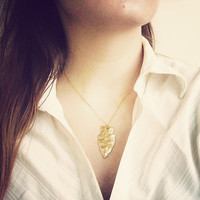 Arrowhead Necklace, Gold Arrowhead Necklace, Arrowhead Jewelry, Gold Silver Brass Chain Color Options -Treasure Island Collection