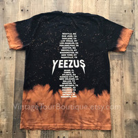 Yeezus Tour Bleached Distressed Tee Kanye West Shirt I Feel Like Pablo Yeezy Yeezus Merch Unisex
