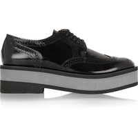 Robert Clergerie - Irvina leather platform brogues