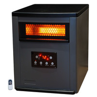 Infrared Space Heater with Remote 5,200 BTUs Heat Two Tone Fireproof Cabinet