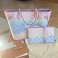 LV Louis Vuitton Escale Neverfull Tote Bag Shopping Bag Mother Bag Two Piece Set