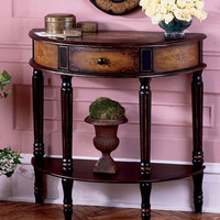 Butler Specialty Coffee Hand Painted Demilune Console Table - 0667059
