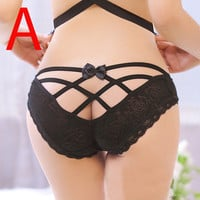 Sexy Women Lace Underwear G-String Thongs T-Pants Intimates Briefs