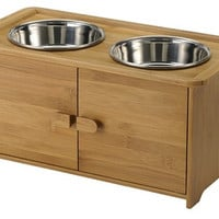 Bamboo Pet Serving Cabinet