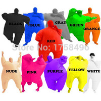 Adult Chub Suit Inflatable Suits Blow Up Blue Green Red Purple Pink Color Full Body Halloween Party Cosplay Costume Jumpsuit