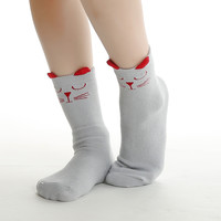 Forrest Animal Socks Gray & Red Mouse - Babies & Toddlers!