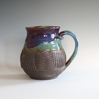 Coffee Mug, 17 oz, unique coffee mug, handmade cup, handthrown mug, stoneware mug, wheel thrown pottery mug, ceramics and pottery