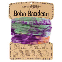 Orange, Purple & Green Tie-Dye Boho Bandeau