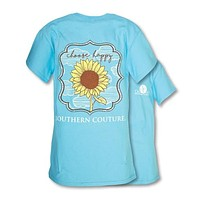 Southern Couture Preppy Choose Happy Sunflower T-Shirt