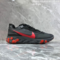 HCXX N1482 Nike Epic React Element 87-Undercover Mesh Fashion Breathable Running Shoes Black Red
