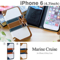 Mr.H Marine Special Designer Leather Bow Type Cruise Diary Case for iPhone 6
