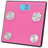 Pyle-sports Bluetooth Digital Weight & Personal Health Scale With Wireless Smartphone Data Transfer (pink)