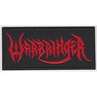 Warbringer Iron-On Patch Rectangle Red Letters Logo