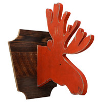 Merry Holiday Moose Trophy Head, Signs