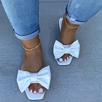 BOW FLAT slippers