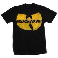 Wu-Tang Clan - Classic Yellow Logo T-Shirt in Black, Size: XX-Large, Color: Black
