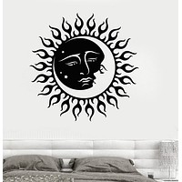 Vinyl Wall Decal Sun and Moon Star Bedroom Room Decoration Stickers Unique Gift (025ig)