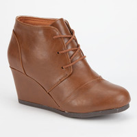 City Classified Rex Womens Wedges Light Brown  In Sizes
