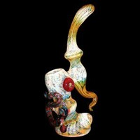 Glass Sherlock Bubbler - Fumed and Colored Glass - Colored and Color Changing Glass - Smoking Pipes - Grasscity.com