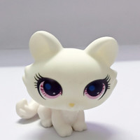 Littlest pet shop super cute classic white cat buyer required lps pokemo toy funko pop action toy figures free shipping 5CM PVC