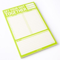 """Knock Knock """"Get Your S*** Together"""" Note Pad - Gifts for Him - Gifts"""