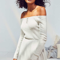 Out From Under Henderson Ribbed Off-The-Shoulder Romper | Urban Outfitters