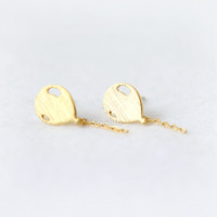 Balloon earrings / choose your color / gold and silver