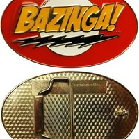 The Big Bang Theory Bazinga Red Belt Buckle - The Big Bang Theory - | TV Store Online