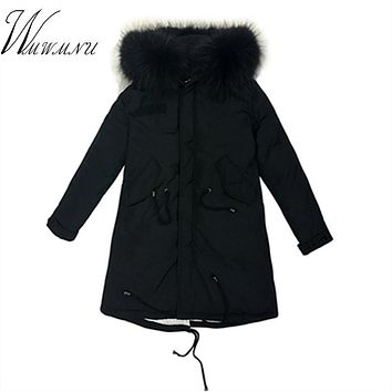 2017 Rushed Ukraine Sale Whom Han Edition Big Yards Long Thickening Heavy Hair Coat Winter Clothes Jacket Women Abrigos Mujer