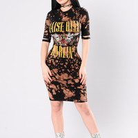 Raise Hell Darlin Dress - Black/Rust