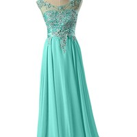 Sunvary Jewel Chiffon Prom Gowns for Party Pageant Dresses 2015 Long
