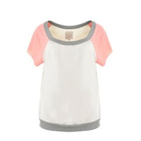 Chaser Womens Knit Colorblock Pullover Top