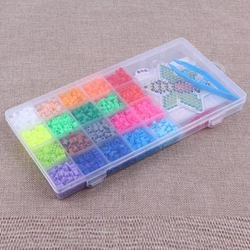 20 Colors Hama Beads Perler Bea Diy Puzzle Toys Set Eco-Friendly Food-Grade Material Baby  Kid Educational Toys