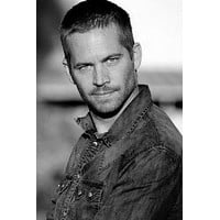 """Paul Walker poster Metal Sign Wall Art 8in x 12in 12""""x16"""" Black and White"""