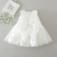 Sun Moon Kids 1 Year Birthday Dress Fashion Baby Girl Christening Gowns White Baby Girl Clothes Children's Costumes For Girls