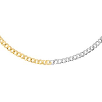 Two Tone Flat Curb Necklace