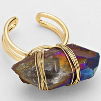 Natural Stone Cuff Ring