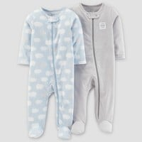 Baby Boys' 2pk Sleep N' Play - Just One You™ Made by Carter's® Blue Sheep